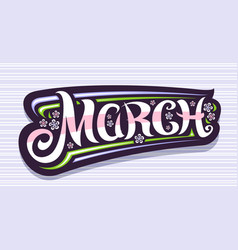 Banner for march vector