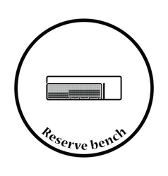 Baseball reserve bench icon vector