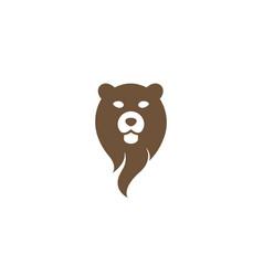 Bear head and face for logo design icon vector