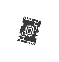 Black electronic computer components motherboard vector