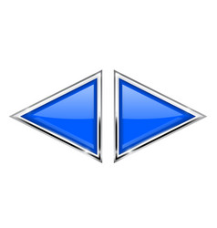 Blue triangles with metal frame vector