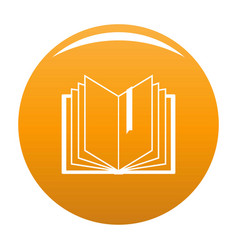 book bookmark icon orange vector image