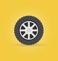 car wheel flat icon - car service symbol vector image