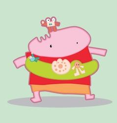 Cartoon Cute Monsters 002 vector