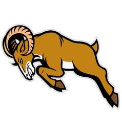 charging ram mascot vector image