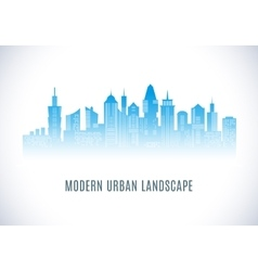 city urban design abstract landscape vector image