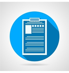 Clipboard with questionnaire icon vector