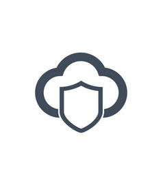 cloud computing sequrity icon with shield vector image