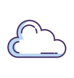 cloud computing server with arrow download vector image
