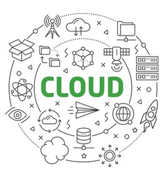 cloud linear slide for the vector image
