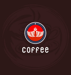 Coffee shop logo design vector