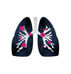 Coronavirus infected lungs covid-19 caused vector