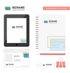credit card business logo tab app diary pvc vector image