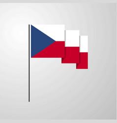 Czech republic waving flag creative background vector