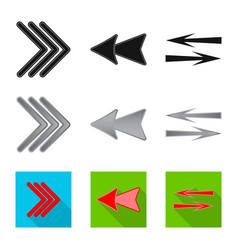 Design element and arrow logo set of vector