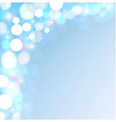 festive lights on a blue background vector image
