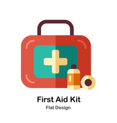 First aid kit flat icon vector