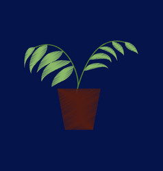 Flat shading style icon ficus vector