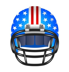 Football helmet with stripes and stars vector