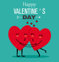 Funny valentines card vector