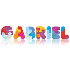 GABRIEL written with alphabet puzzle vector