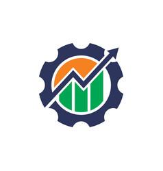 gear circle business logo vector image