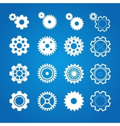 gear icon set Flat Design vector image
