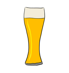 glass with beer on white vector image