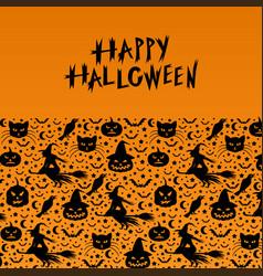 halloween decorative greeting card vector image