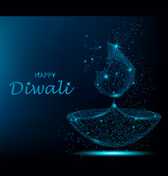Happy diwali deepavali light and fire festival vector