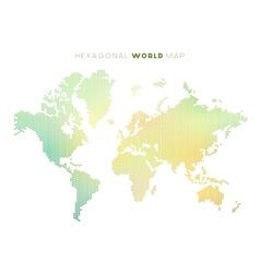 hexagonal world map vector image