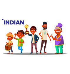 indian generation male people person vector image