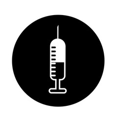 Injection medical isolated icon vector