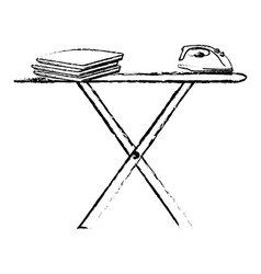 Ironing board isolated icon vector
