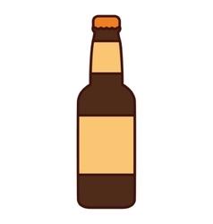 Isolated beer bottle design vector