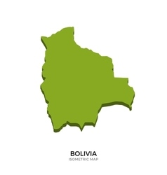Isometric map of Bolivia detailed vector