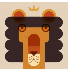 King lion applique style head vector