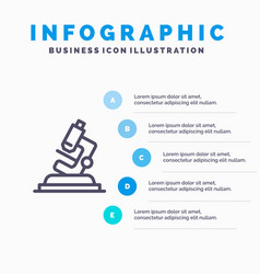 Lab microscope science zoom blue infographics vector