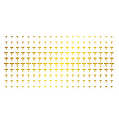 medicine caduceus symbol golden halftone array vector image
