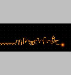 minneapolis light streak skyline vector image