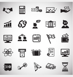 money and finance set on white background vector image