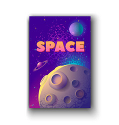 moon and space words of moon vector image