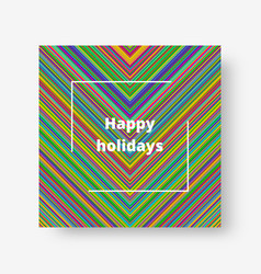 multicolor with stripes vector image