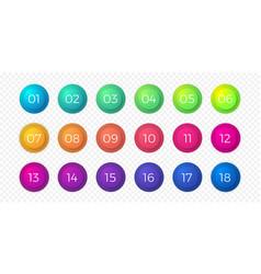number bullet point flat color gradient web vector image
