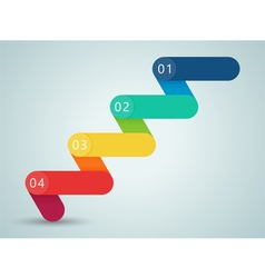 Number Steps 3d Infographic 1 to 4 B vector