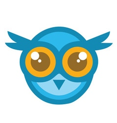Owl Head Mascot Cartoon vector image