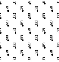 Percent on screen pattern seamless vector