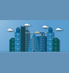 pop up design of urban buildings and future town vector image