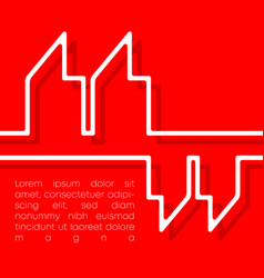 Quote commas typography minimal line design for vector