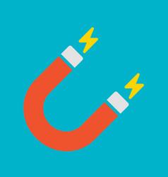 red u-shaped magnet vector image
